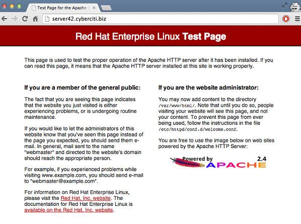 Тестовая страница apache