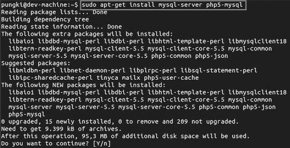install php mysql