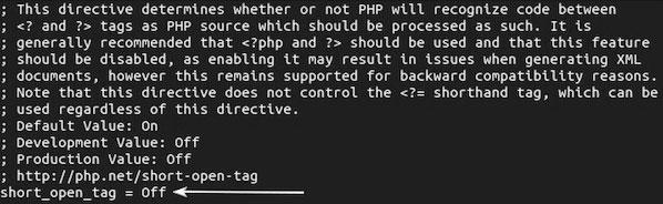 изменение параметров php