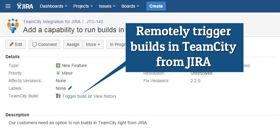 инетграция Jira TeamCity