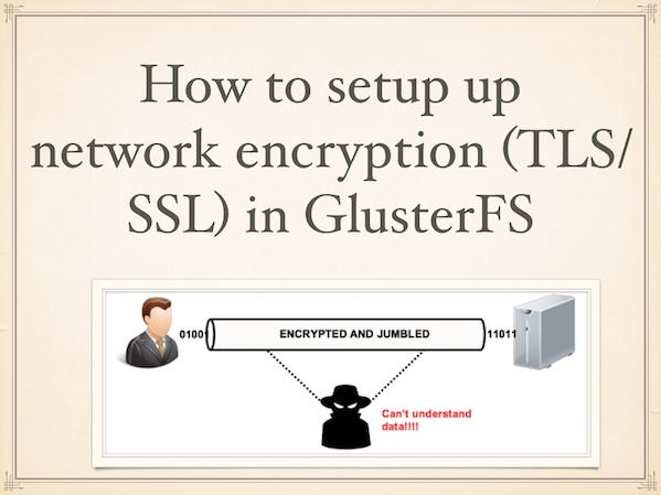 Использование SSL с Glusterfs